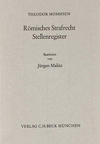 9783406086885: Römisches Strafrecht, Stellenregister (German Edition)