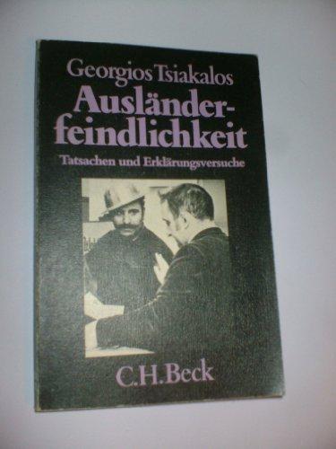 9783406092787: Ausländerfeindlichkeit: Tatsachen und Erklärungsversuche (Beck'sche schwarze Reihe) (German Edition)