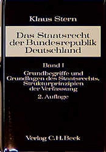9783406093722: Grundbegriffe und Grundlagen des Staatsrechts, Strukturprinzipien der Verfassung