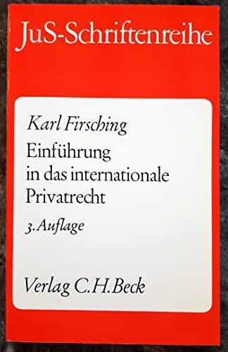 9783406316593: Einführung in das internationale Privatrecht. Einschliesslich der Grundzüge des internationalen Verfahrensrechts