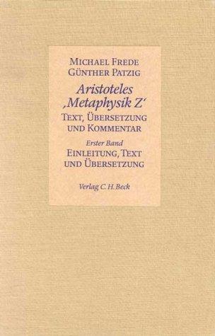 9783406319181: Aristoteles, Metaphysik Z: Text, Ubersetzung und Kommentar (2 Volumes) (German Edition)