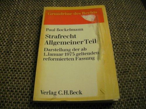 9783406322662: Strafrecht, Allgemeiner Teil (Grundrisse des Rechts) (German Edition)