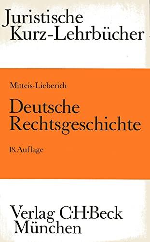 9783406334139: Deutsche Rechtsgeschichte. Ein Studienbuch