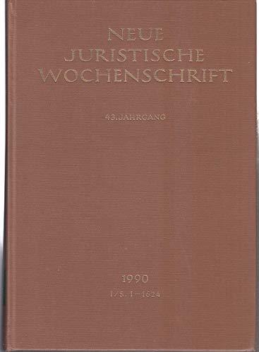 9783406344640: NJW 1990 (I), 43. Jahrgang 1990, 1. Halbband, Neue Juristische Wochenschrift