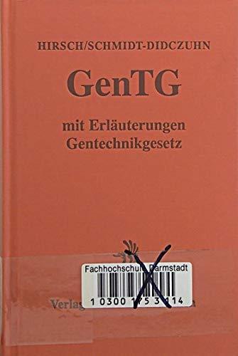 9783406345838: Gentechnikgesetz: (GenTG) : mit Gentechnik-Verordnungen : Kommentar [Turtleba...