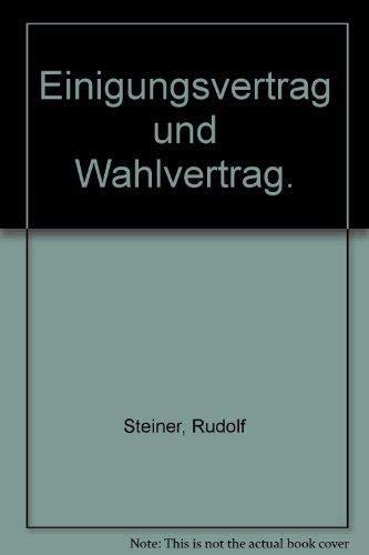Einigungsvertrag und Wahlvertrag: Klaus Stern