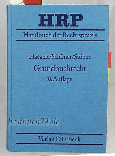 9783406360091: Grundbuchrecht (Handbuch der Rechtspraxis) (German Edition)