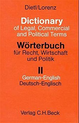 Dictionary of Legal, Commercial and Political Terms: Lorenz, Dietl