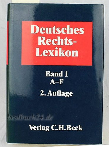 9783406369612: Deutsches Rechts-Lexikon (German Edition)
