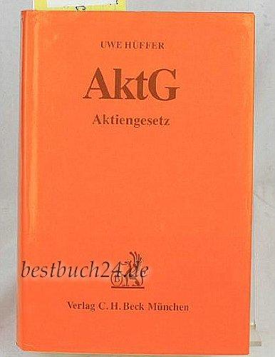 Aktiengesetz (AktG): Hüffer, Uwe