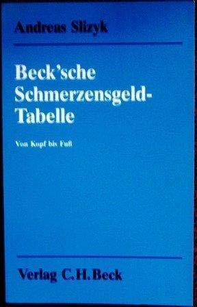 9783406375163: Beck'sche Schmerzensgeld-Tabelle. Von Kopf bis Fuss. Über 1550 Schmerzensgeld-Entscheidungen mit einer ausführlichen Einleitung