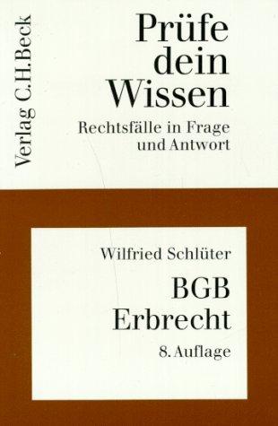 9783406379628: Prüfe dein Wissen, H.6, BGB Erbrecht (Livre en allemand)