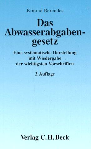 9783406394492: Das Abwasserabgabengesetz.