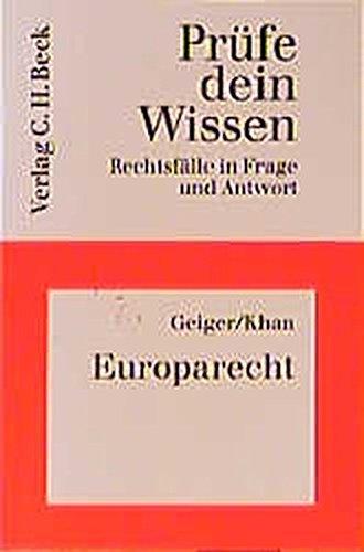 Prüfe dein Wissen, H.27, Europarecht