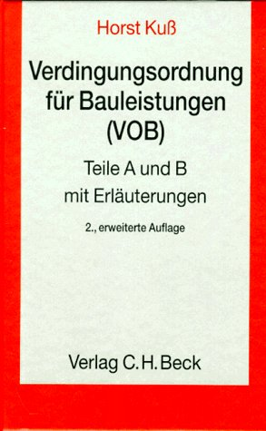 9783406425530: Verdingungsordnung für Bauleistungen (VOB). Teile A und B