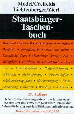 Staatsbürger - Taschenbuch - Model, Otto, Carl Creifelds und Gustav Lichtenberger