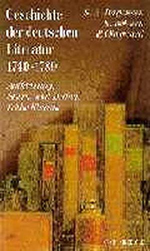 9783406449604: Geschichte der deutschen Literatur 6. Aufkl�rung, Sturm und Drang, fr�he Klassik.