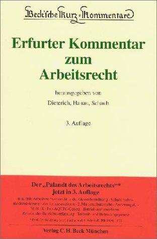 9783406468247: Erfurter Kommentar zum Arbeitsrecht [Hardcover] by Thomas Dieterich