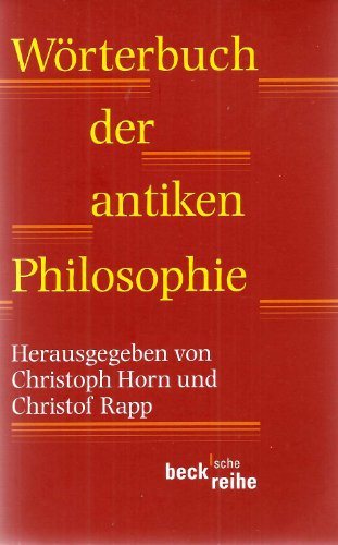 9783406476235: W?Ârterbuch der antiken Philosophie.