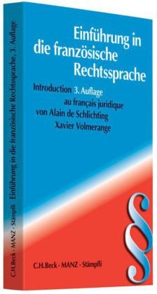 9783406479199: Einführung in die französische Rechtssprache: Introduction au francais juridique