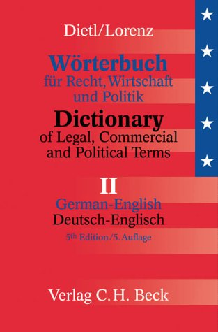 9783406480676: Worterbuch Fur Recht, Wirtschaft Und Politik Band 2 D/E (German Edition)