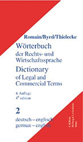 9783406480683: Dictionary of Legal and Commercial Terms German-English