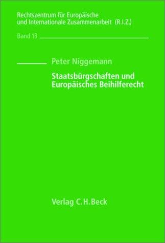 9783406481215: Staatsbürgschaften und Europäisches Beihilferecht