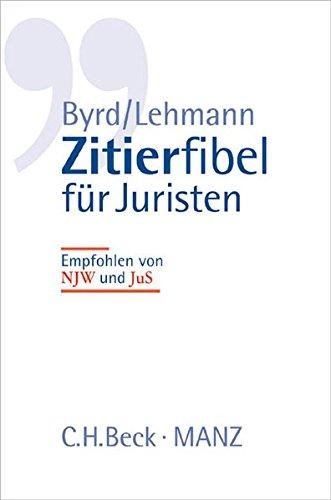 9783406491085: Zitierfibel f�r Juristen