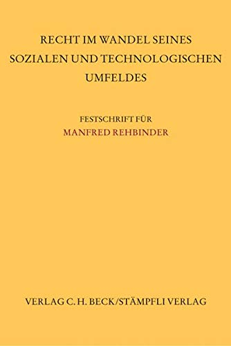 Festschrift für Manfred Rehbinder: Jürgen Becker