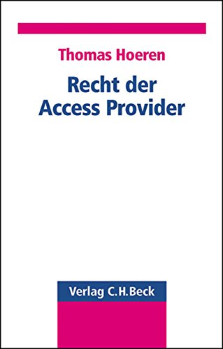 9783406495670: Recht der Access-Provider.