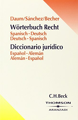 9783406496479: Wörterbuch Recht. Deutsch - Spanisch / Spanisch - Deutsch