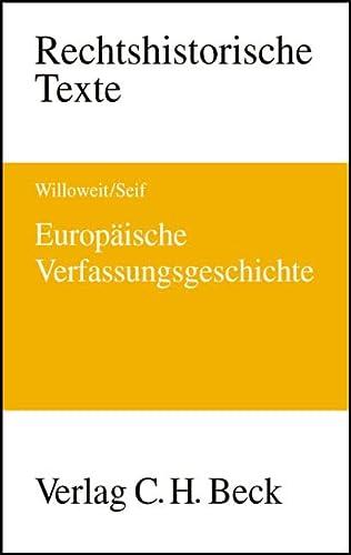 9783406498251: Europ�ische Verfassungsgeschichte