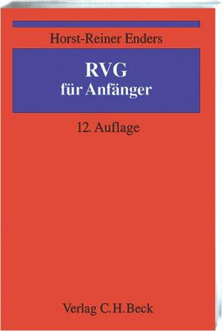 9783406499098: RVG für Anfänger.