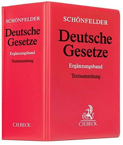 9783406501579: Deutsche Gesetze Ergänzungsband (ohne Fortsetzungsnotierung). Inkl. 35. Ergänzungslieferung: Sammlung des Zivil-, Straf- und Verfahrensrechts