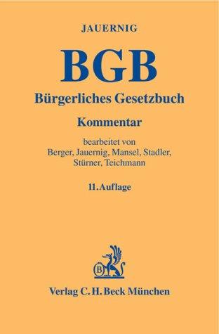 9783406518201: Bürgerliches Gesetzbuch (BGB). Kommentar