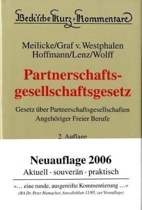 9783406526145: Partnerschaftsgesellschaftsgesetz: Gesetz über Partnerschaftsgesellschaften Angehöriger Freier Berufe