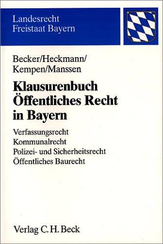 9783406530616: Klausurenbuch Öffentliches Recht in Bayern