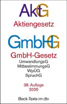 9783406532634: Aktiengesetz (AktG) / GmbH-Gesetz (GmbHG)