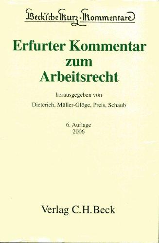 Erfurter Kommentar Zum Arbeitsrecht Zvab