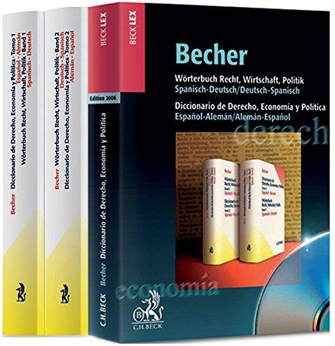 9783406539268: Wörterbuch Recht, Wirtschaft, Politik. Diccionario de Derecho, Economia y Politica. 2 Bände und CD-ROM