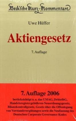 9783406545856: Aktiengesetz
