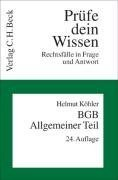 9783406548734: BGB. Allgemeiner Teil ( B�rgerliches Gesetzbuch). Rechtsf�lle in Frage und Antwort