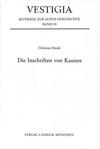 9783406550744: Die Inschriften von Kaunos