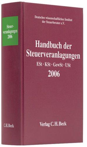Handbuch der Steuerveranlagungen 2006