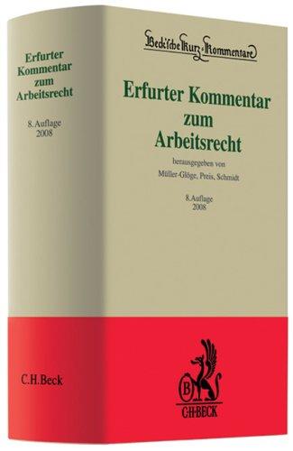 9783406556883: Erfurter Kommentar zum Arbeitsrecht: Rechtsstand: 20070901