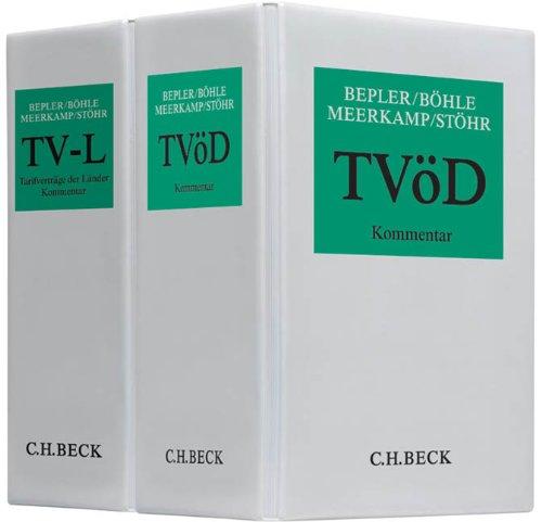 9783406561887: Kombi Bepler/Böhle/Martin/Russ/Stöhr, TV-L und Cerff/Winter, Tarifrecht öffentlicher Dienst
