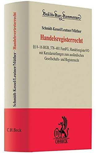 Handelsregisterrecht: Martin Schmidt-Kessel