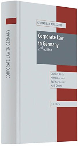 9783406572838: Corporate Law in Germany