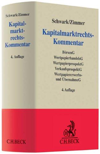 Kapitalmarktrechts-Kommentar: Eberhard Schwark