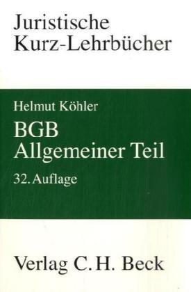 9783406577826: BGB Allgemeiner Teil: Ein Studienbuch